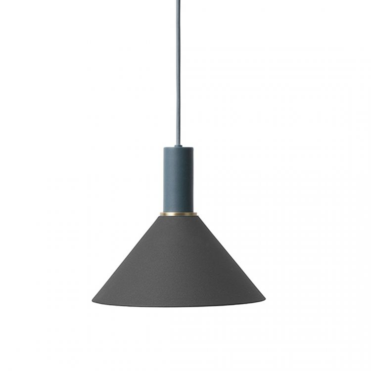 Image Ferm Living Collect Cone Zwart Low Hanglamp