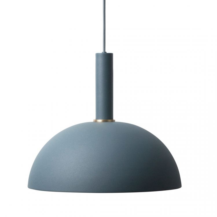 Image Ferm Living Collect Dome Donkerblauw High Hanglamp