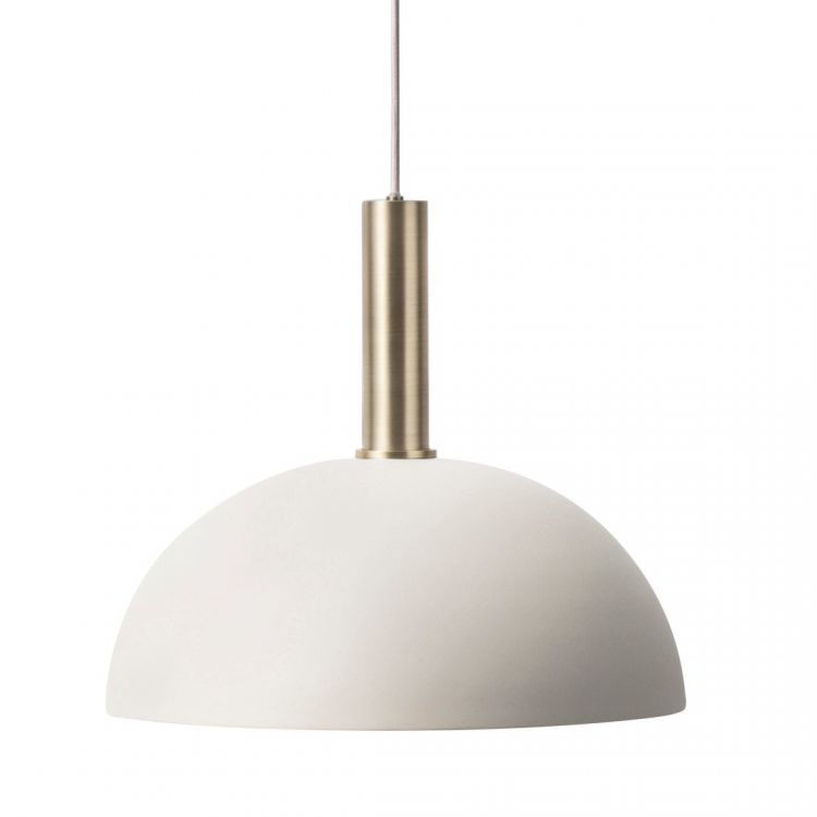 Image Ferm Living Collect Dome Lichtgrijs High Hanglamp