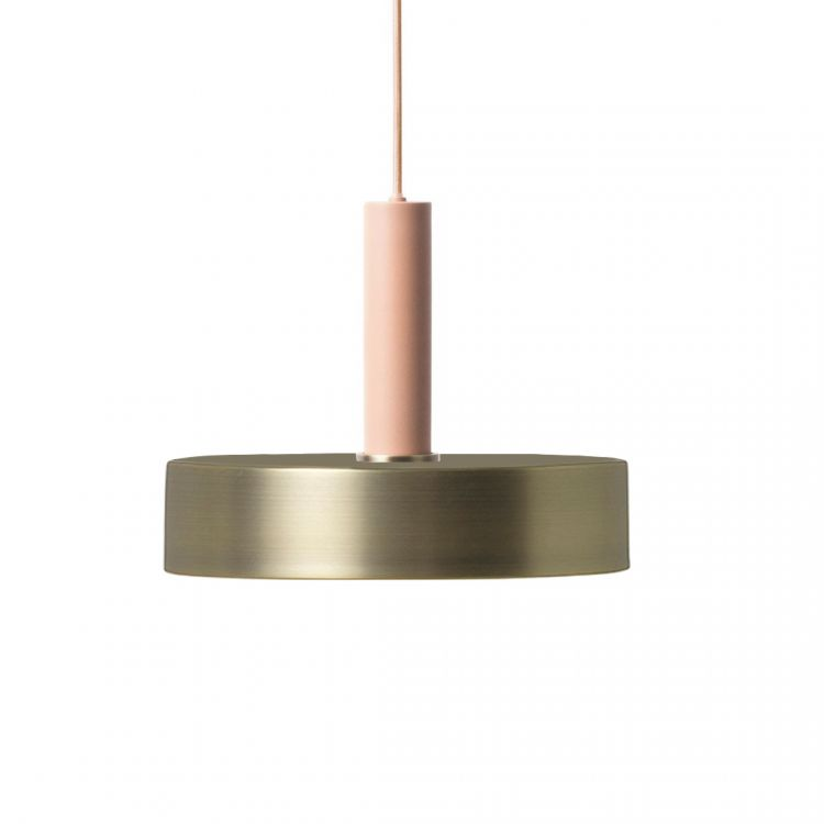 Image Ferm Living Collect Record Messing High Hanglamp