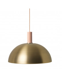 Ferm Living Collect Dome Low Hanglamp Messing afbeelding