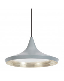Tom Dixon Beat Light Wide Hanglamp Grijs afbeelding
