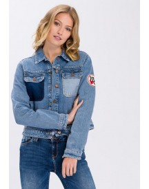 Cross Jeans ® Jeansjack Met Patches afbeelding