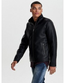 Only & Sons Leatherlook Jas afbeelding