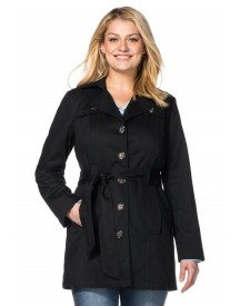 Sheego Casual Sheego Casual Trenchcoat In Kort Model afbeelding
