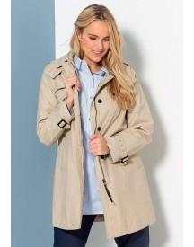 Sheego Casual Sheego Casual Trenchcoat Met Capuchon afbeelding