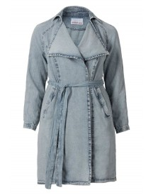 Sheego Denim Sheego Trend Jeans-trenchcoat Met Bindstrik afbeelding