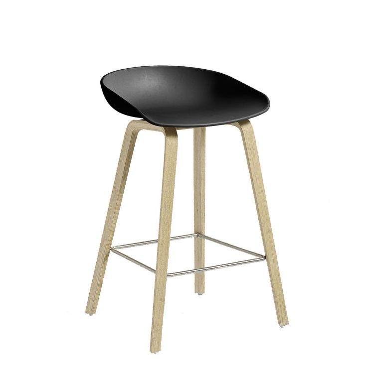 Image Hay About A Stool Aas32 Barkruk Zeep Onderstel-zithoogte 65 Cm-antraciet