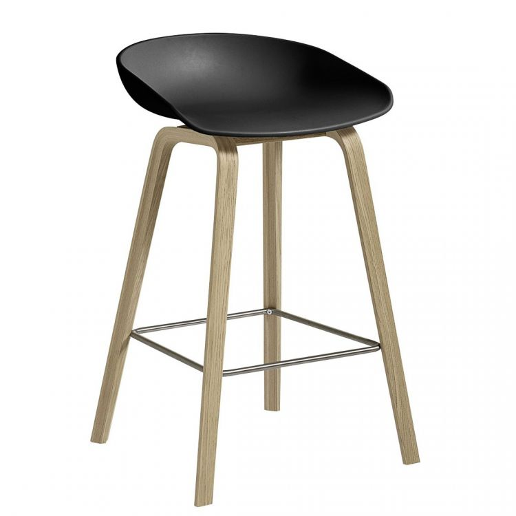 Image Hay About A Stool Aas32 Barkruk Zeep Onderstel-zithoogte 75 Cm-antraciet