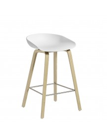 Hay About A Stool Aas32 Barkruk-zithoogte 65 Cm-eiken-wit afbeelding