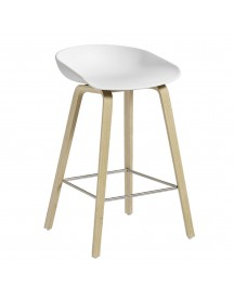 Hay About A Stool Aas32 Barkruk-zithoogte 75 Cm-eiken-wit afbeelding