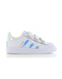 594970ac72b22 Adidas Superstar Cf White Holographic Kids - Snelle levering