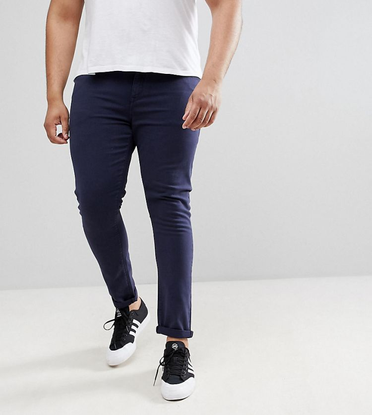 Image Asos Design Plus Super Skinny Jeans In Navy