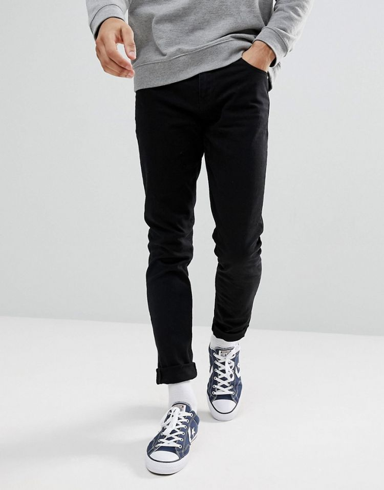 Image Asos Design Skinny Jeans In Black