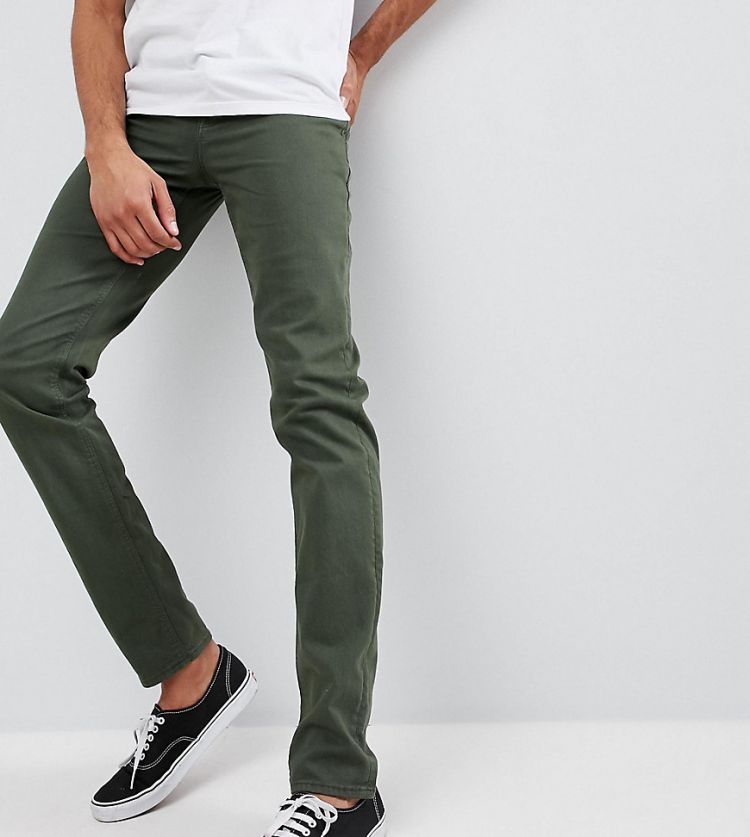 Image Asos Design Tall Slim Jeans In Green