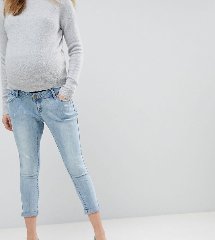 Image Bandia Maternity Over The Bump Boyfriend Jean With Removable Bump Band