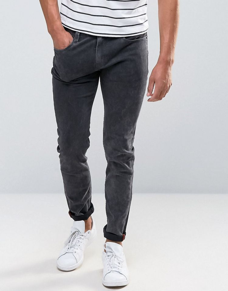 Image Bellfield Skinny Washed Black Jeans