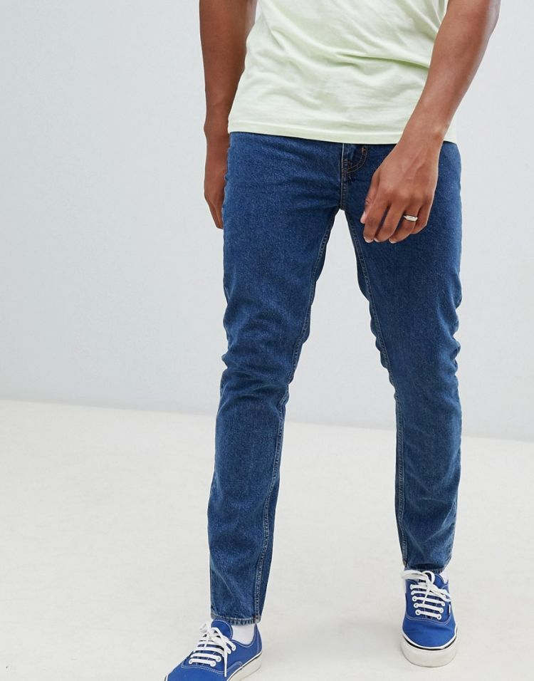 Image Cheap Monday Slim Tapered Jeans In Blue