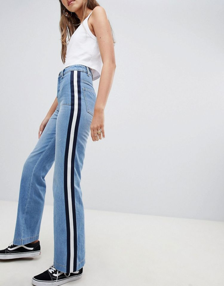 Image Daisy Street Jeans With Sports Tape Detail