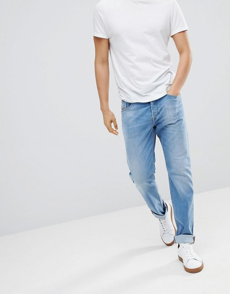 Image Diesel Buster Slim Fit Jeans In Summer Blue