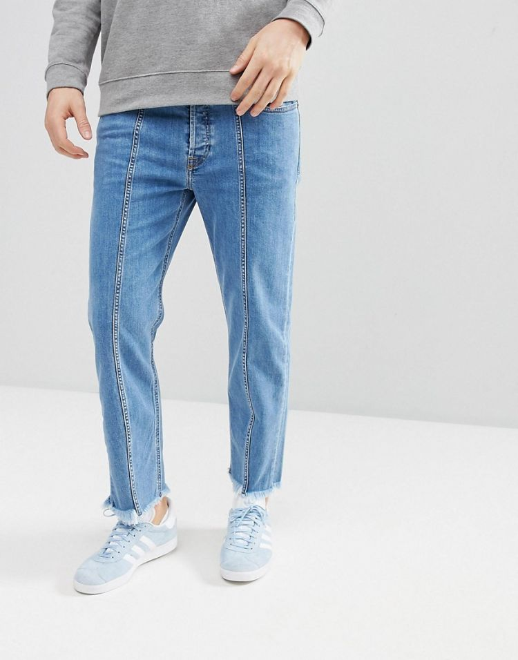 Image Diesel Dagh-sp 90s Fit Seam Jeans With Distressing