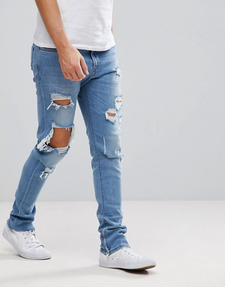 Image Diesel Deepzip Lightwash Jeans With Rips