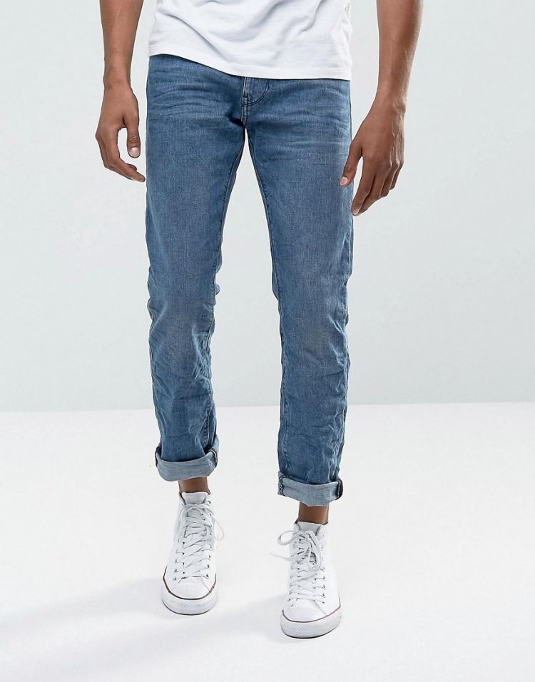 Image Esprit Jeans In Straight Fit Washed Blue Organic Denim