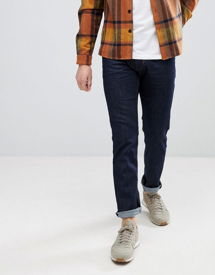 Image Esprit Slim Fit Jeans In Raw Indigo Denim
