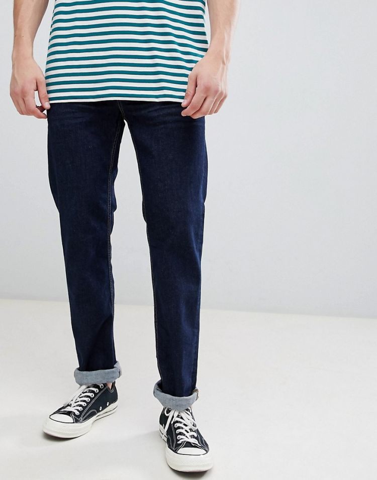 Image Esprit Straight Fit Jeans In Rinse Wash Blue