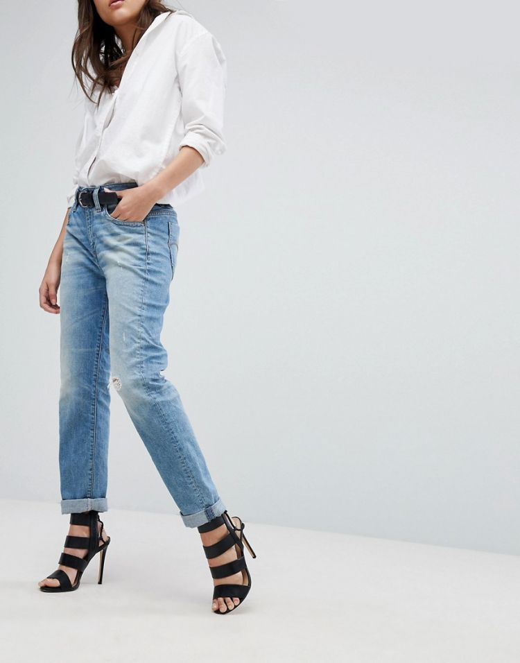 Image G-star Midge Saddle Boyfriend Jeans With Roll Hem