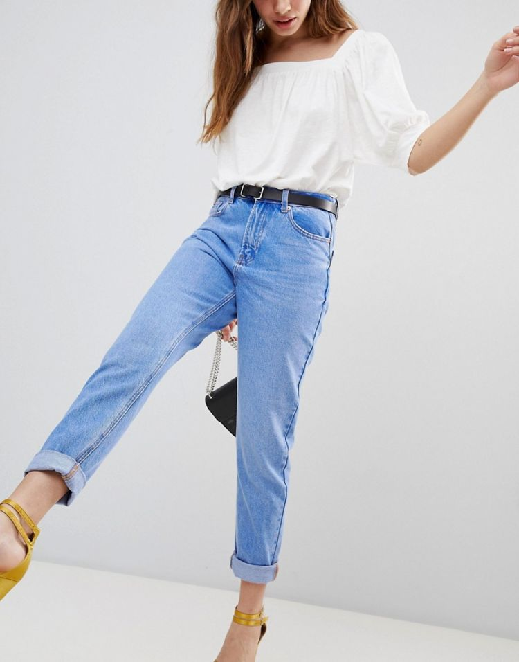 Image New Look Bright Blue Straight Leg Jean
