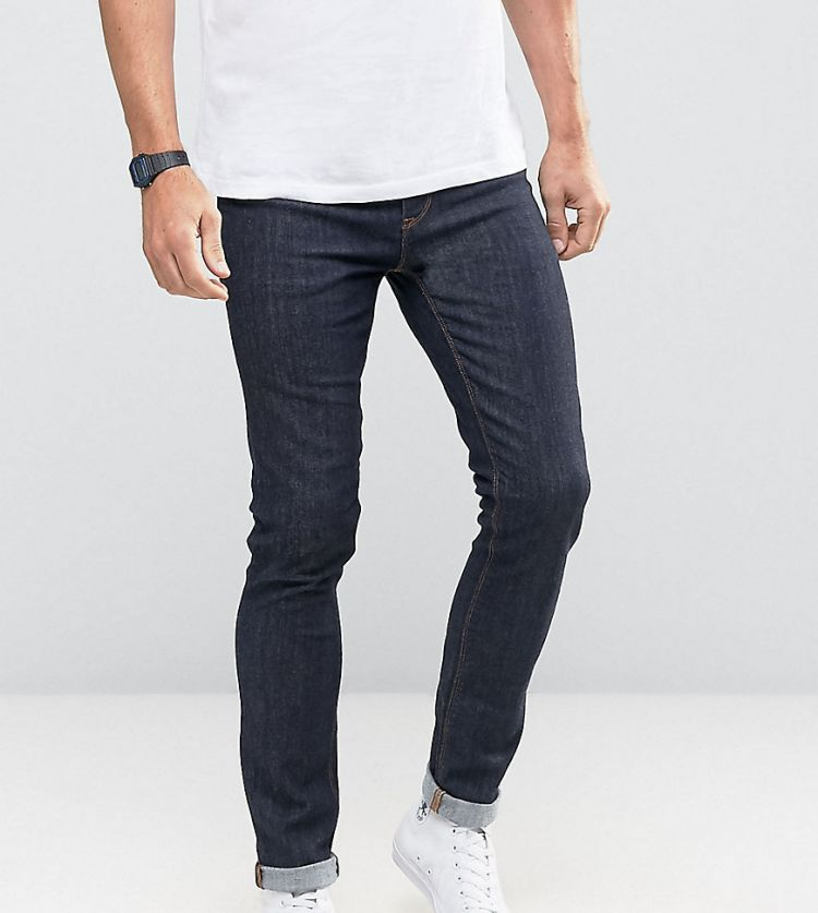 Image Noak Super Skinny Jeans In Raw Blue