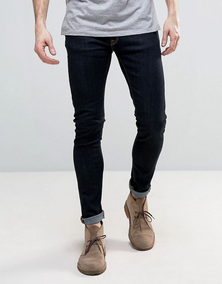 Image Nudie Jeans Co Skinny Lin Super Skinny Jeans In Deep Orange