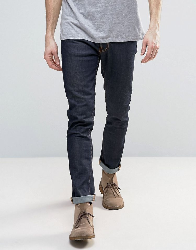 Image Nudie Jeans Lean Dean Slim Tapered 16 Dips Jeans In Blue