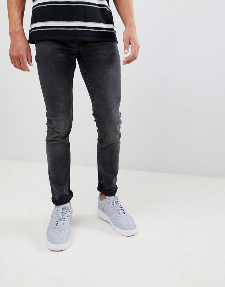 Image Only & Sons Slim Fit Washed Black Jeans