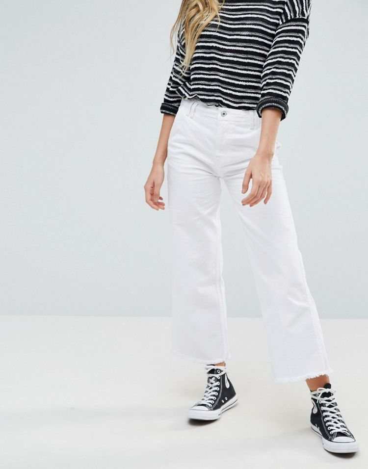 Image Pepe Jeans Cropped Kick Flared Jeans