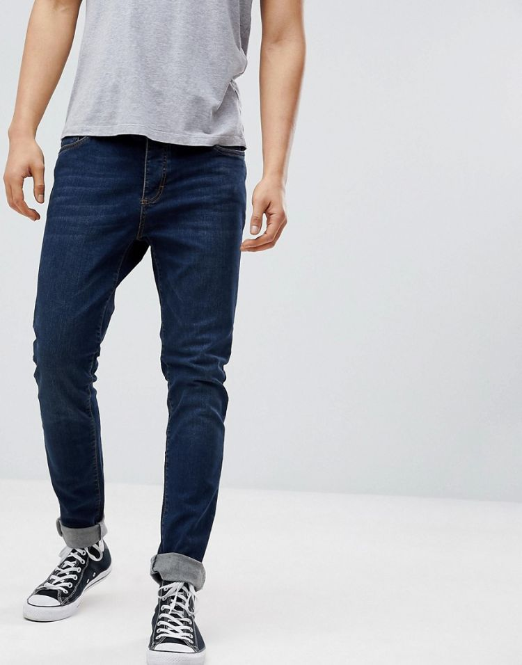 Image Pier One Slim Fit Jeans In Dark Blue