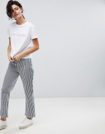 2ndday Cropped Kick Flare In Stripe afbeelding