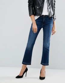 7 For All Mankind Cropped Bootcut Jean With Raw Hem afbeelding