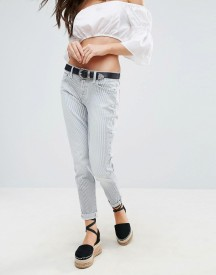 7 For All Mankind Josefina Slim Turnup Baby Stripe Jeans afbeelding