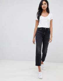 Abercrombie & Fitch High Waisted Cropped Straight Leg Jean afbeelding