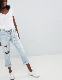 Abercrombie & Fitch Midrise Straight Leg Jean With Rips And Distressing afbeelding