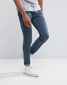 Abercrombie & Fitch Skinny Fit Jeans In Stretch Mid Wash afbeelding