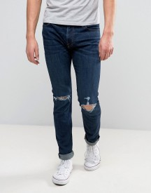 Abercrombie & Fitch Super Skinny Stretch Jean In Dark Distressed Wash With Rips afbeelding