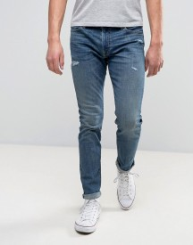 Abercrombie & Fitch Super Skinny Stretch Jean In Medium Distressed Wash With Rips afbeelding