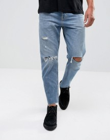 Allsaints Jeans In Straight Fit With Rips afbeelding