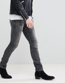 Allsaints Skinny Fit Jeans In Washed Black afbeelding