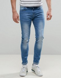 Always Rare Dexter Super Skinny Jeans Light Wash afbeelding
