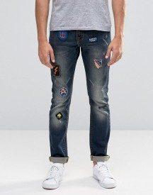 Always Rare Skinny Jeans With Badges afbeelding