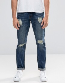 Always Rare Slim Fit Jeans With Rips afbeelding